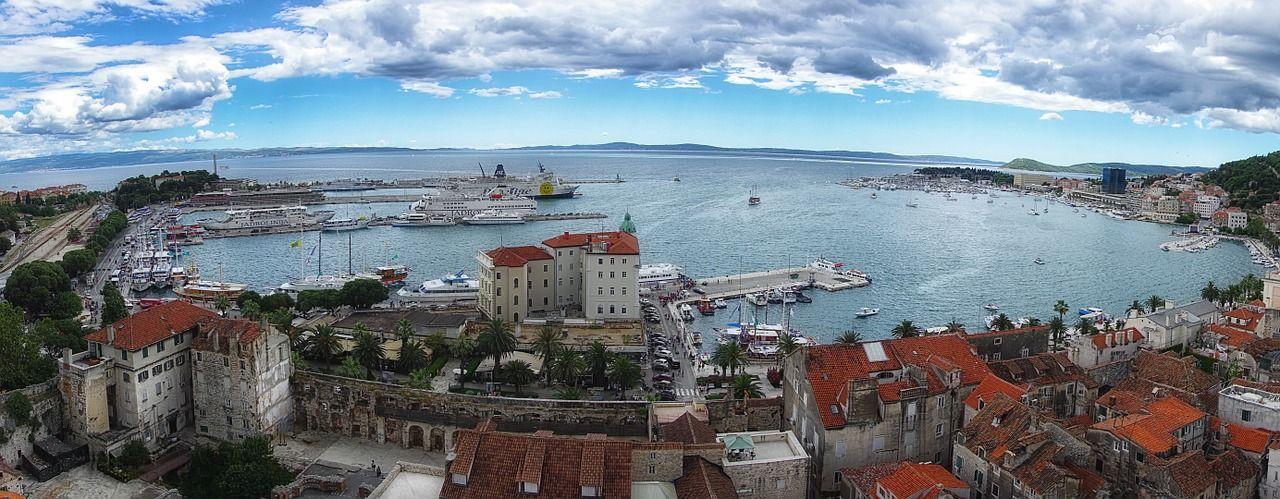 Horvátország, Split panorama